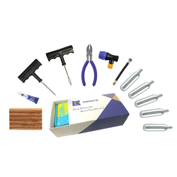 TCAR-02BA Tire Repair Set (PVC CO2 repair kit bag box)