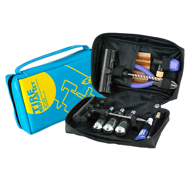 TCAR-03B Tire Repair Set (PVC CO2 repair kit bag)