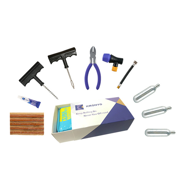 TCAR-03BA Tire Repair Set (PVC CO2 repair kit bag box)