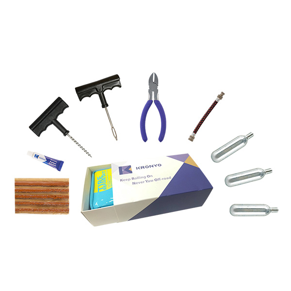 TCAR-04BA Tire Repair Set (PVC CO2 repair kit bag box)